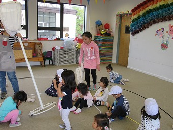 7年生の職場体験学習(幼稚園)